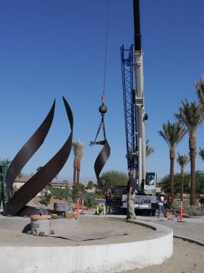 monumental sculpture creating in process, stage 4, Jon Koehler Sculpture, JKSculpture.com