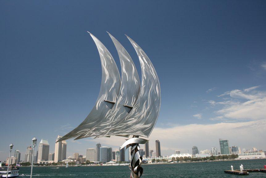 Evolution, monumental sculpture art, Jon Koehler, installed public art