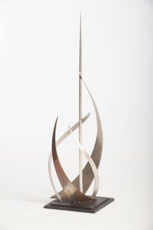 Piercing table top sculpture view 1