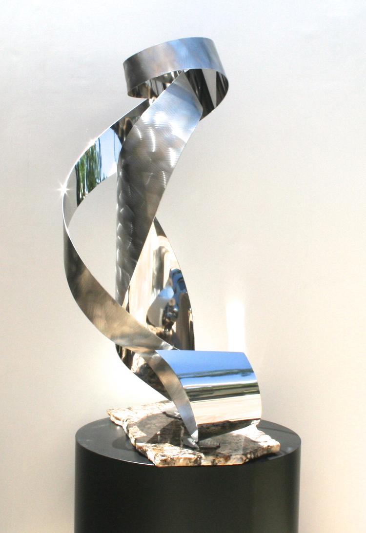 Self Reflection floor sculpture view 2