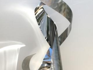Self Reflection floor sculpture view 6