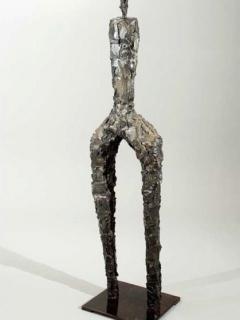 Primitive floor sculpture view 1