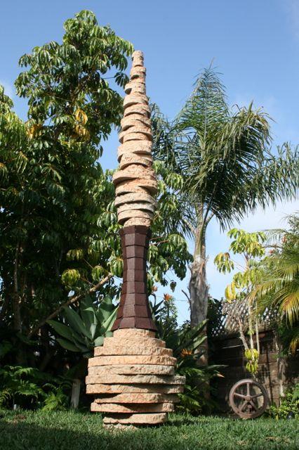 Totem floor sculpture view 1