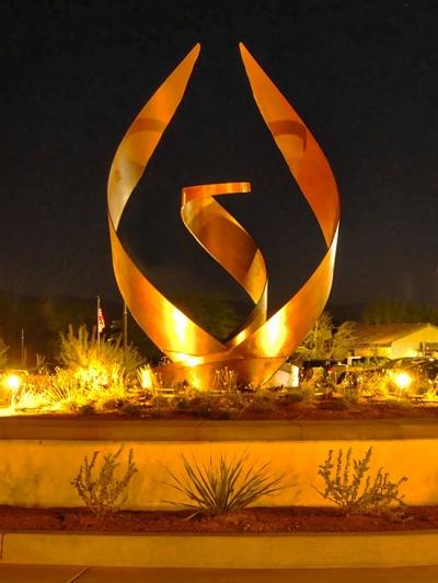 Dominion, installed monumental sculpture art, Jon Koehler Sculpture, JKSculpture.com